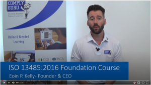 Online ISO 13485 Foundation Course Video Image