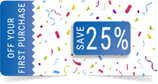 25% Off Coupon Image