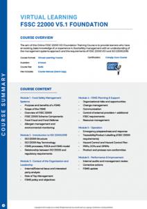 Brochure Image for FSSC 22000 Foundation Training