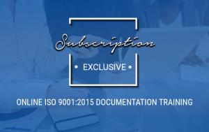 Online ISO 9001:2015 Documentation Training