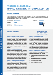 Course Summary ISO 17025 Internal Auditor Image