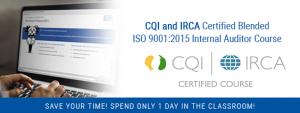 CQI and IRCA Certified ISO 9001 Internal Auditor Training
