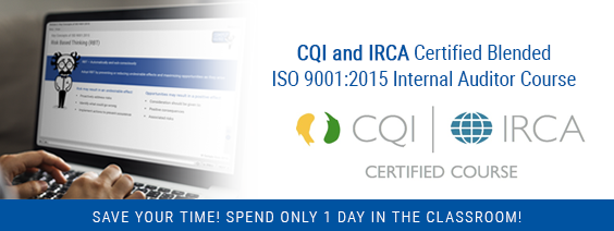 1-day CQI & IRCA Certified ISO 9001:2015 Internal Auditor Training