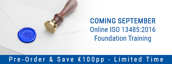 Pre-Order €100Discount – Online ISO 13485:2016 Foundation Training