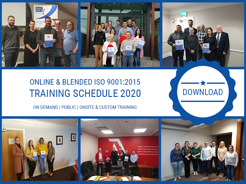 Online & Blended ISO 9001:2015 Training Schedule 2020 – Download Now!