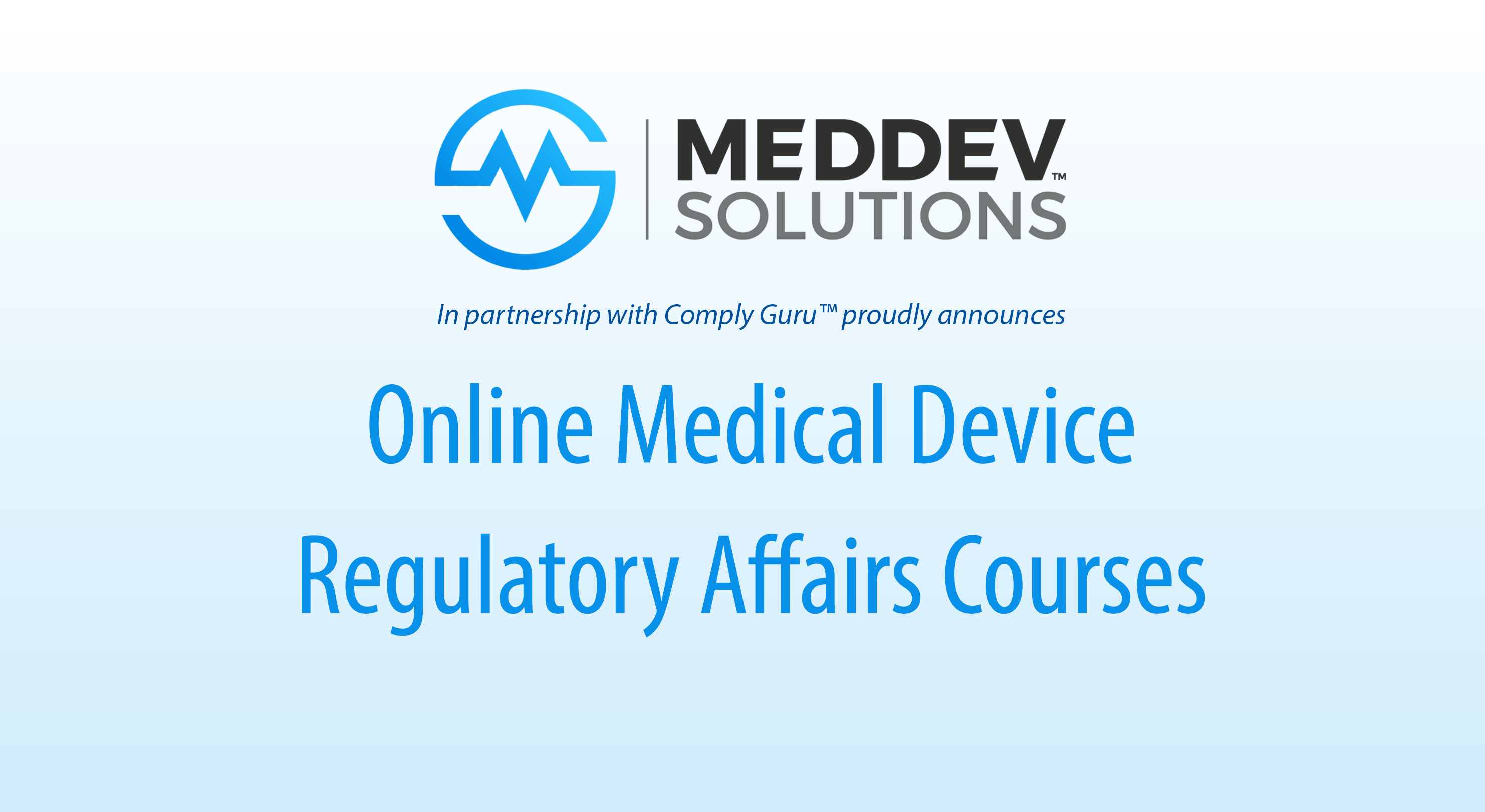 Online Medical Device Regulatory Affairs Training