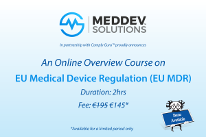 Online Overview of EU MDR Training Blog Post Image