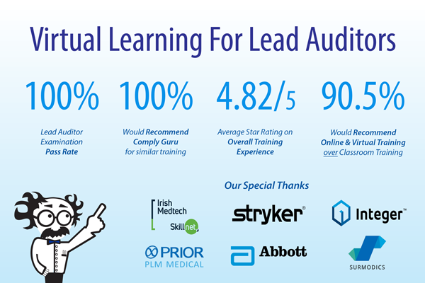 Virtual Learning for ISO 13485:2016 Lead Auditors!