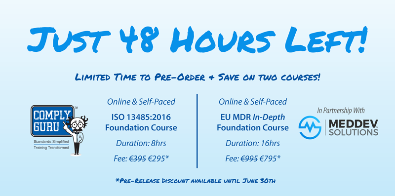 Just 48hrs Left to Pre-Order New Medical Device Courses!