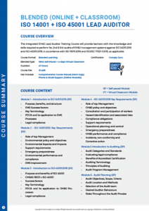 Brochure Image for ISO 14001+45001 Lead Auditor Training
